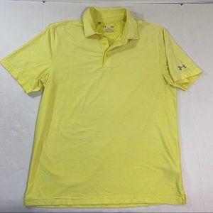 Men's Under Armour Yellow Logo Polo Shirt L